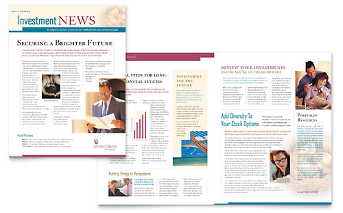 Investment Company Newsletter Template - Microsoft Office