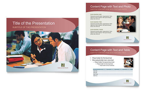 Tax Accounting Services PowerPoint Presentation Template - Microsoft Office