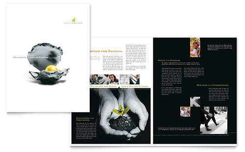Wealth Management Services Brochure Template - Microsoft Office