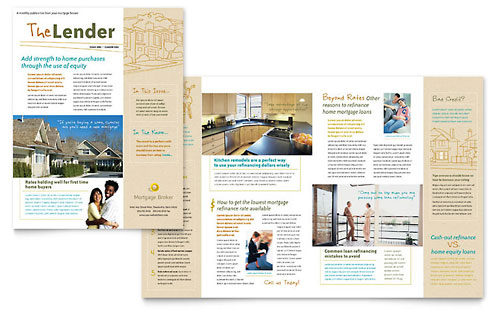 Mortgage Broker Newsletter Template - Microsoft Office