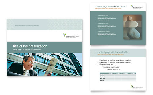 Wealth Management Services PowerPoint Presentation Template - Microsoft Office