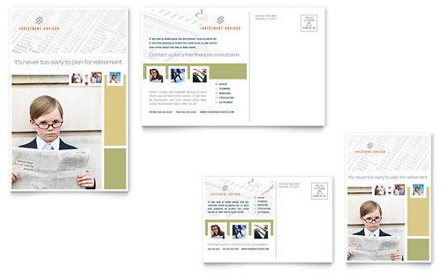 Investment Advisor Postcard Template