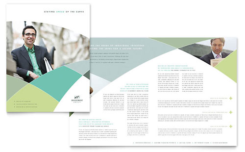 Financial Advisor Brochure Template Design