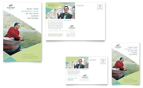 Financial Advisor Postcard Template Design