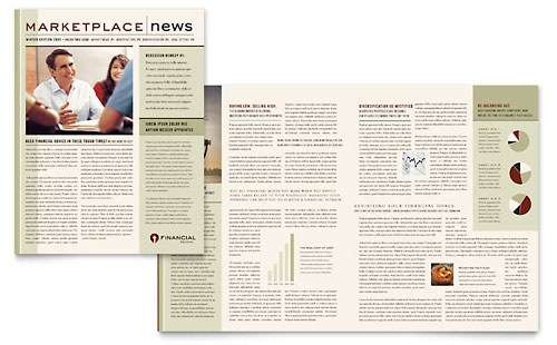 Financial Planner Newsletter Template - Microsoft Office