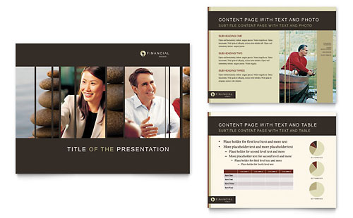Financial Planner PowerPoint Presentation Template - Microsoft Office