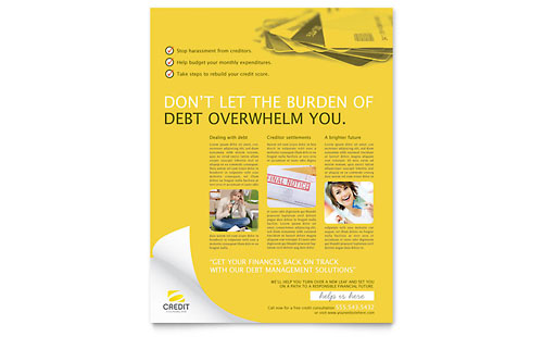 Consumer Credit Counseling Flyer Template - Microsoft Office