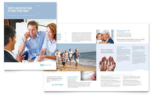 Estate Planning Brochure Template - Microsoft Office