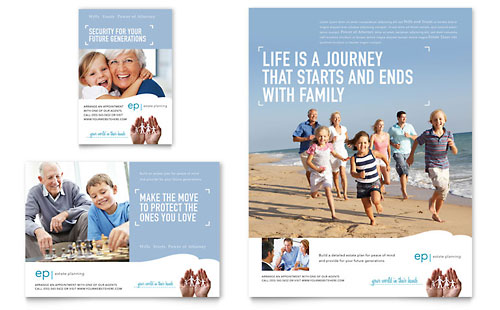 Estate Planning Flyer & Ad Template Design