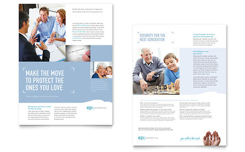 Estate Planning Datasheet Template Design