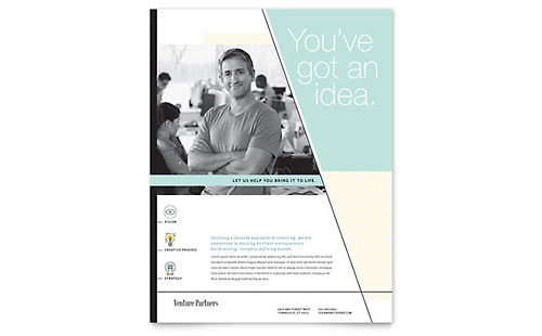 Venture Capital Firm Flyer Template Design