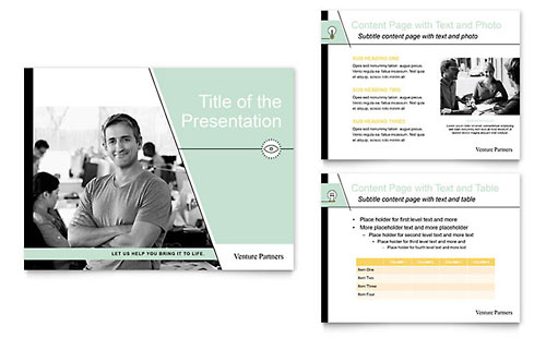 Venture Capital Firm PowerPoint Presentation Template - Microsoft Office