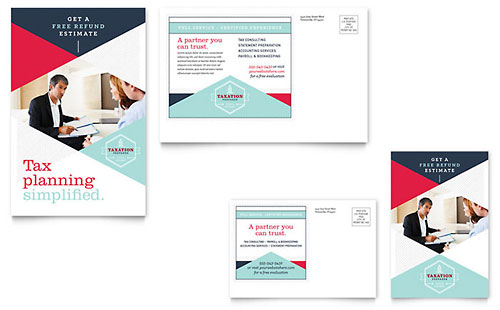 Tax Preparer Postcard Template - Word & Publisher