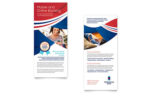 Bank Rack Card Template - Word & Publisher