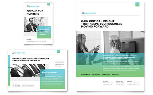 Auditing Firm Flyer & Ad Template - Microsoft Office