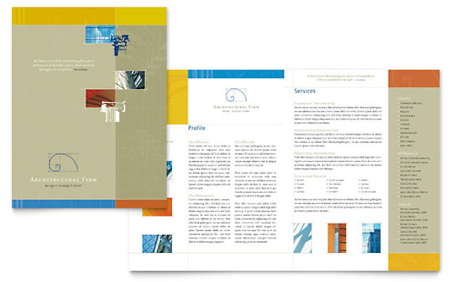 Architecture Design X Brochure Templates Word Publisher - 11x17 brochure template