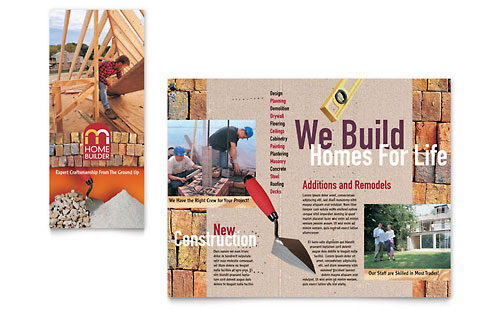 Home Builder & Contractor Brochure Template - Microsoft Office