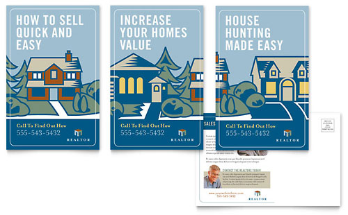Real Estate Agent Postcard Template - Microsoft Office