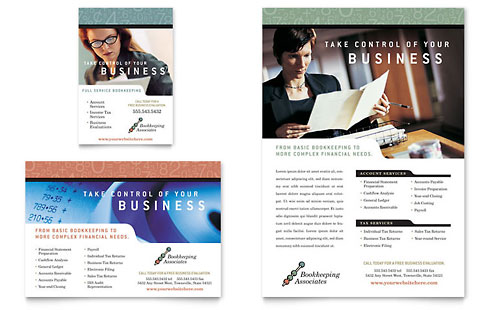 Bookkeeping & Accounting Services Flyer & Ad Template - Microsoft Office