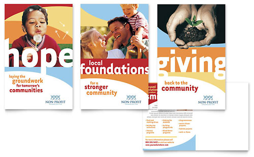 Community Non Profit Postcard Template - Microsoft Office