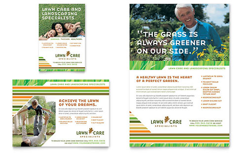 Lawn Care & Mowing Flyer & Ad Template - Microsoft Office