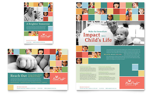 Non Profit Association for Children Flyer & Ad Template - Microsoft Office