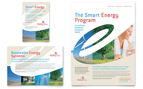 Utility & Energy Company Flyer & Ad Template - Microsoft Office