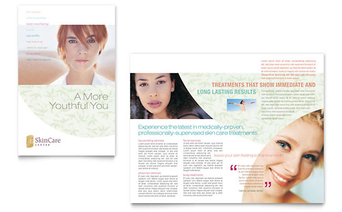 Skin Care Clinic Brochure Template - Microsoft Office