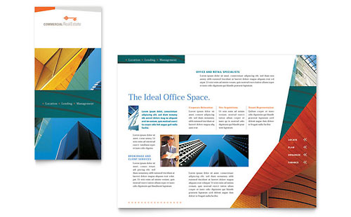 Commercial Real Estate Property Brochure Template - Microsoft Office