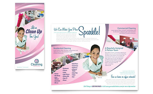 House Cleaning & Maid Services Brochure Template - Microsoft Office