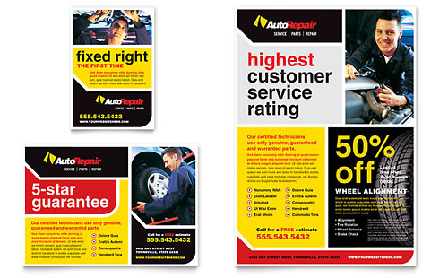 Auto Repair Flyer & Ad Template - Microsoft Office