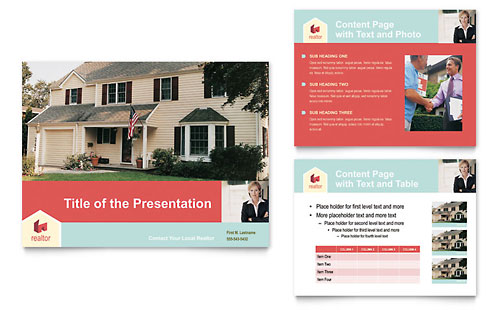 Home Real Estate PowerPoint Presentation Template Design