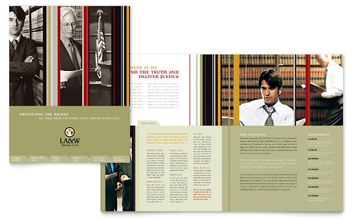 Lawyer & Law Firm Brochure Template - Microsoft Office