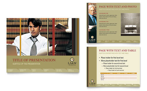 Lawyer & Law Firm PowerPoint Presentation Template - Microsoft Office