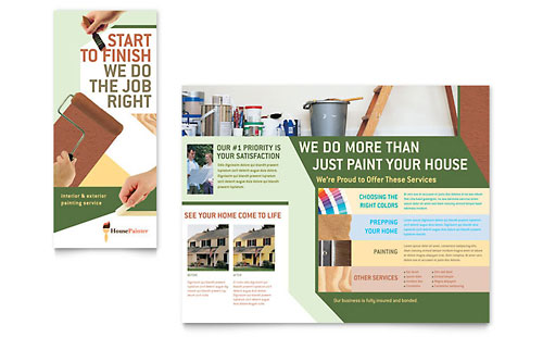Painter & Painting Contractor Brochure Template - Microsoft Office