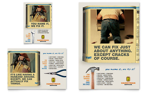 Home Repair Services Flyer & Ad Template - Microsoft Office