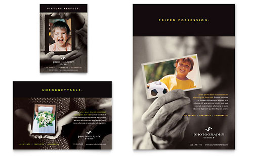 Photography Studio Flyer & Ad Template - Microsoft Office