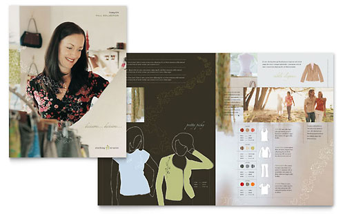 Women's Clothing Store Brochure Template - Microsoft Office