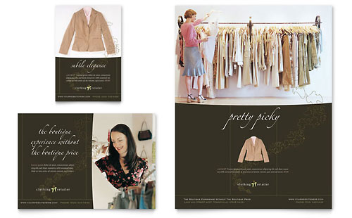 Women's Clothing Store Flyer & Ad Template - Microsoft Office