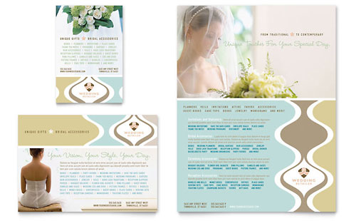Wedding Store & Supplies Flyer & Ad Template - Microsoft Office