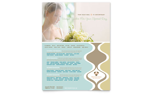 Wedding Store & Supplies Flyer Template - Microsoft Office