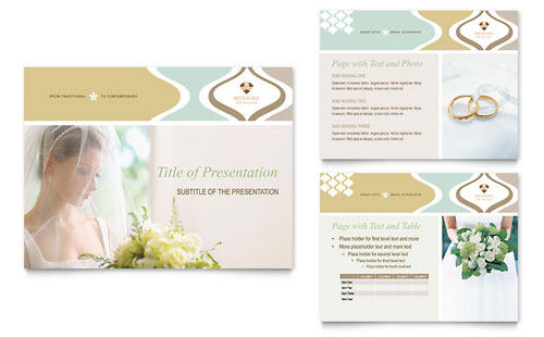 Wedding Store & Supplies PowerPoint Presentation Template - Microsoft Office