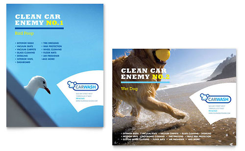 Car Cleaning Poster Template Design