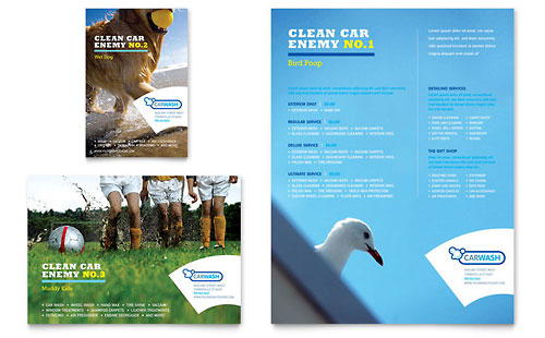 Car Cleaning Flyer & Ad Template - Microsoft Office