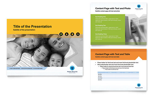 Home Security Systems PowerPoint Presentation Template - Microsoft Office