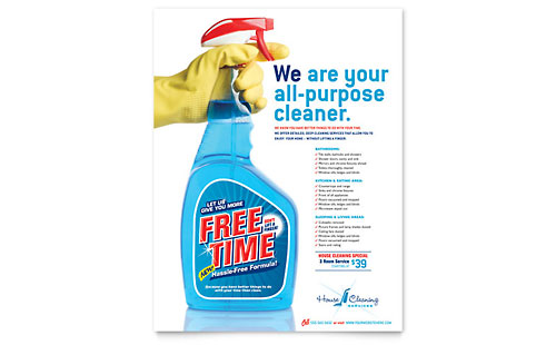 House Cleaning & Housekeeping Flyer Template - Microsoft Office