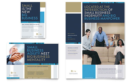 Small Business Consulting Flyer & Ad Template - Microsoft Office