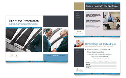 Small Business Consulting PowerPoint Presentation Template - Microsoft Office