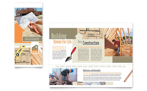 Home Building Carpentry Brochure Template - Microsoft Office
