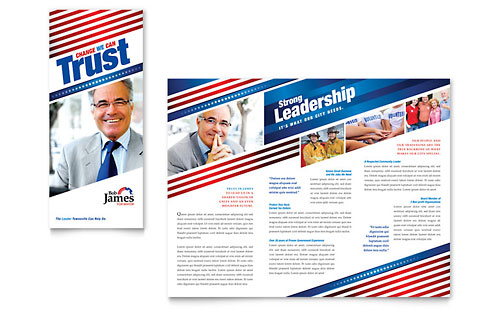 Political Campaign Tri Fold Brochure Template - Microsoft Office